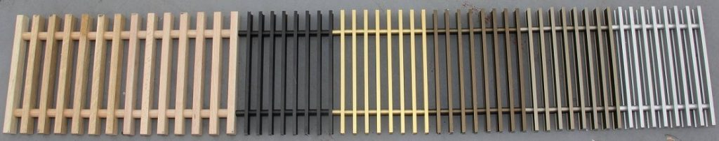 Krycí mřížky podlahových konvektorů